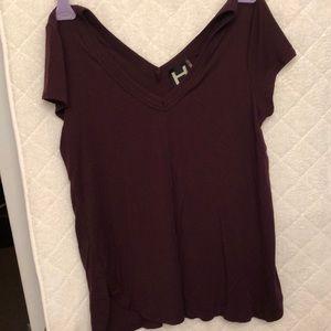 Dark purple short sleeve shirt